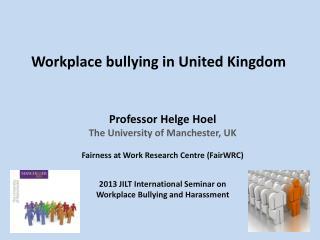 Workplace bullying in United Kingdom