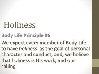 Holiness!