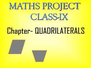 MATHS PROJECT     CLASS-IX