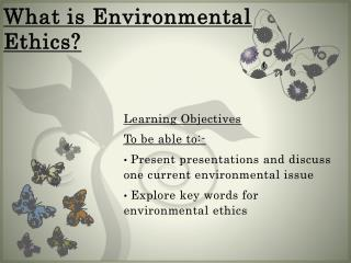 What is Environmental Ethics?