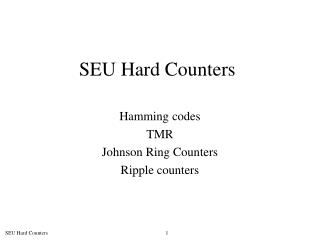 SEU Hard Counters