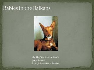 Rabies in the Balkans
