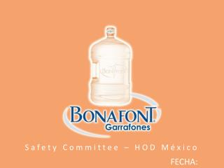 Safety  Committee  – HOD México