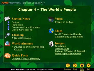 Chapter 4 – The World's People