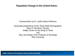 Population Change in the United States: