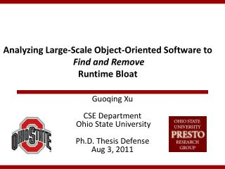 Analyzing Large-Scale Object-Oriented Software to Find and Remove Runtime Bloat