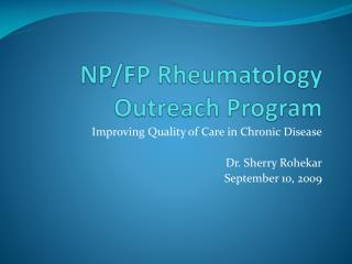 NP/FP Rheumatology Outreach Program