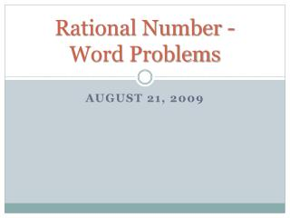 Rational Number -  Word Problems