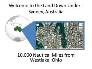 Welcome to the Land Down Under - Sydney, Australia