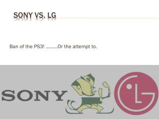 SONY vs . lg