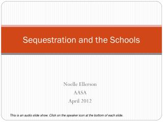 Sequestration and the Schools