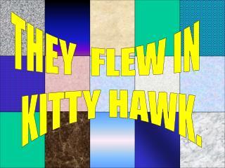 THEY  FLEW IN   KITTY HAWK.