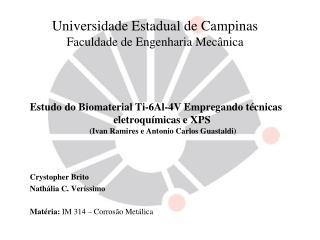 Universidade Estadual de Campinas Faculdade de Engenharia Mec�nica