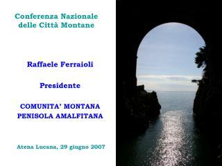 Conferenza Nazionale  delle Città Montane