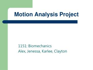Motion Analysis Project