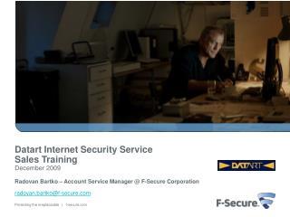Datart  Internet Security Service Sales Training  December 2009