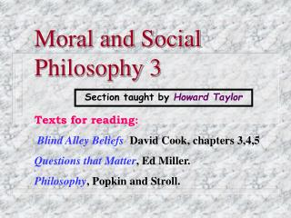 Moral and Social Philosophy 3