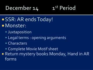 December 141 st  Period