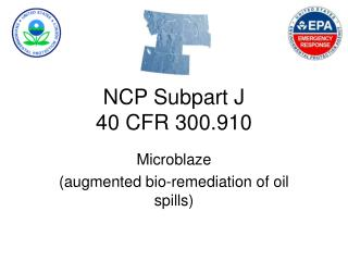NCP Subpart J  40 CFR 300.910