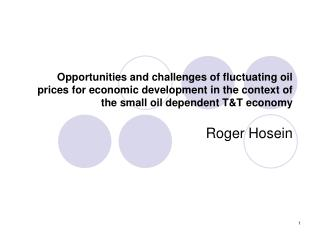 Opportunities and challenges of fluctuating oil prices for economic development in the context of the small oil dependen