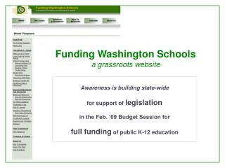 Funding Washington Schools a grassroots website