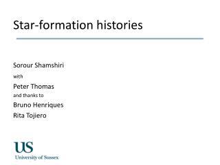 Star-formation histories