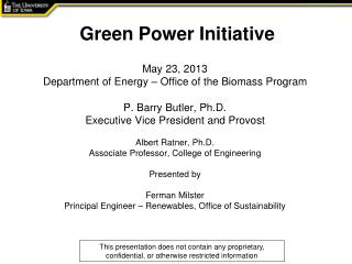 Green Power Initiative