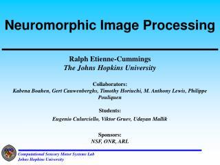 Neuromorphic Image Processing