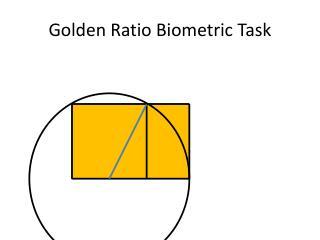 Golden Ratio Biometric  Task