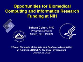 Opportunities for Biomedical Computing and Informatics Research Funding at NIH