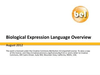 Biological Expression Language Overview