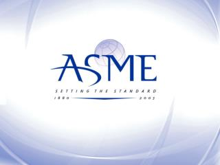 ASME Products, Services, and Areas for Collaboration