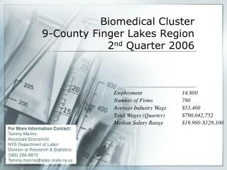 Biomedical Cluster 9-County Finger Lakes Region 2 nd  Quarter 2006
