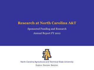 Research at North Carolina A&T
