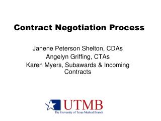 Contract Negotiation Process