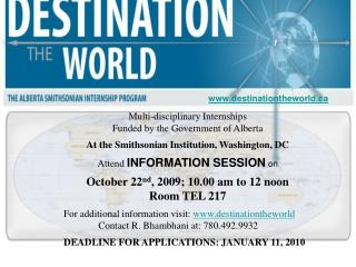 Multi-disciplinary Internships  Funded by the Government of Alberta