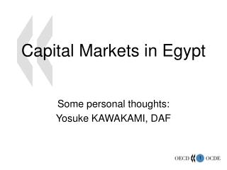 Capital Markets in Egypt