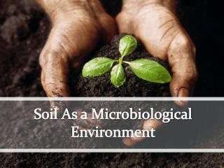 Soil As a Microbiological Environment