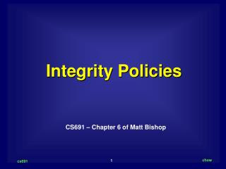 Integrity Policies
