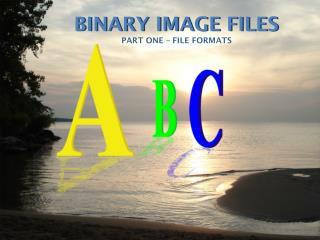 BINARY IMAGE FILES
