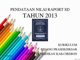 PENDATAAN NILAI RAPORT SD  TAHUN 2013