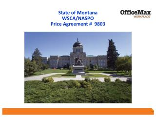 State of Montana  WSCA/NASPO  Price Agreement #  9803