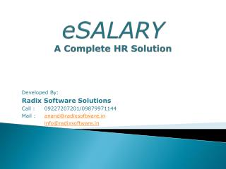 eSALARY A Complete HR Solution