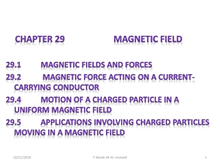 Chapter 29 Magnetism