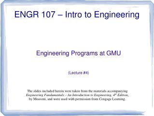 ENGR 107 – Intro to Engineering