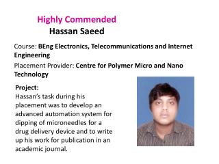 Highly Commended Hassan  Saeed