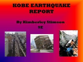 KOBE EARTHQUAKE REPORT