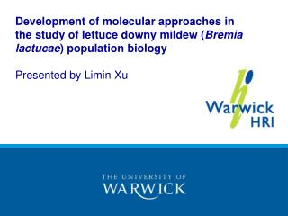 Development of molecular approaches in the study of lettuce downy mildew Bremia lactucae population biology  Presented b