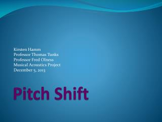 Pitch Shift