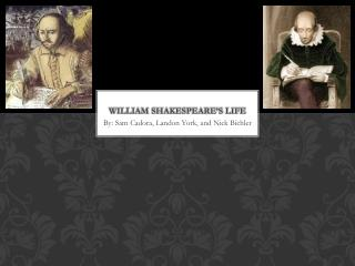 William Shakespeare's Life